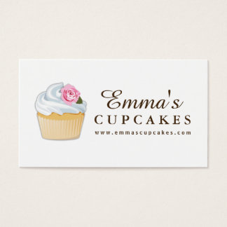 Simple Customizable Cupcake Business Card