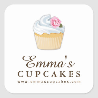 Simple Customizable Cupcake Stickers
