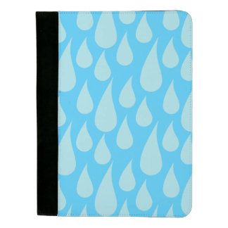 Simple Cute Blue Water Droplets Rain Drops Padfolio