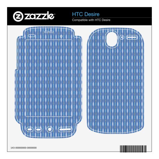 simple cute blue white pattern decals for the HTC desire