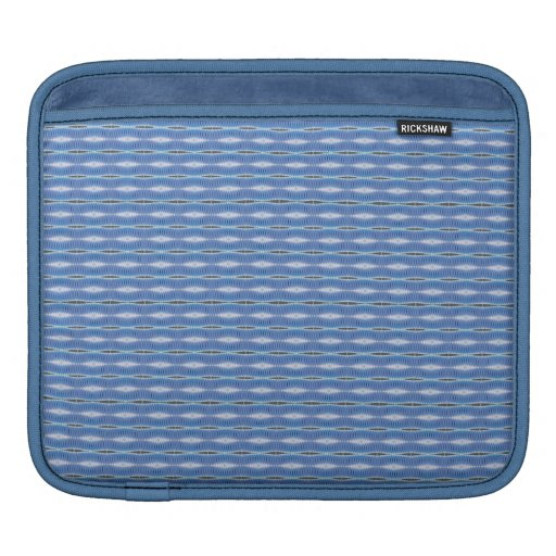 simple cute blue white pattern sleeve for iPads