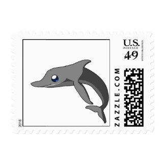 Simple Cute Cartoon Dolphin Kawaii Postage