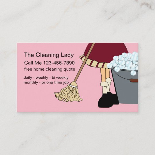 Simple Cute Cleaning Service Business Card Zazzle
