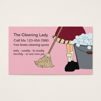Simple Cute Cleaning Service Business Card