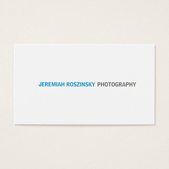 Simple Cyan Text Business Card