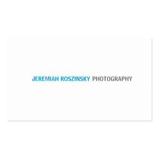 Simple Cyan Text Business Cards