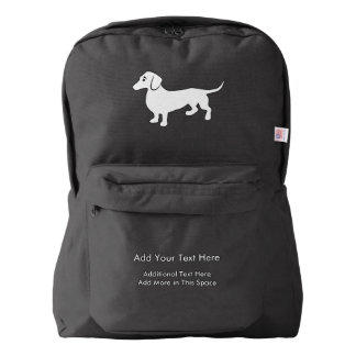 Simple Dachshund Customizable American Apparel™ Backpack