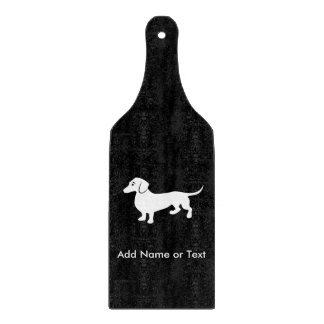 Simple Dachshund Customizable Cutting Board