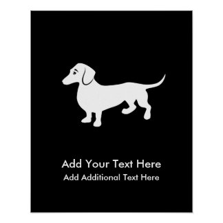Simple Dachshund Customizable Poster