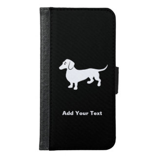 Simple Dachshund Customizable Samsung Galaxy S6 Wallet Case