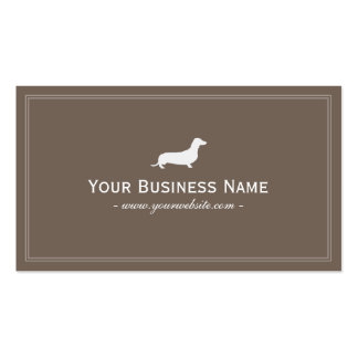 Simple Dachshund/Hotdog Dog Business Card