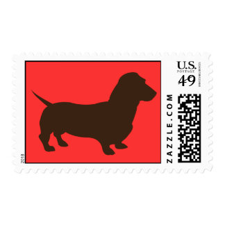 Simple Dachshund Stamp