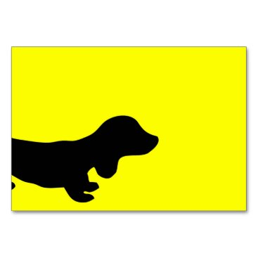 Wedding Themed Simple Dachshund-Themed Table Card Any Occasion