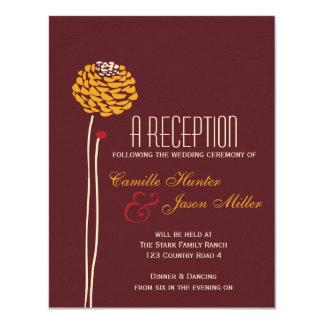 Simple Dahlia - Autumn Rustic Textured Reception Card