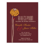 "Simple Dahlia - Autumn Rustic Textured Reception 4.25"" X 5.5"" Invitation Card"