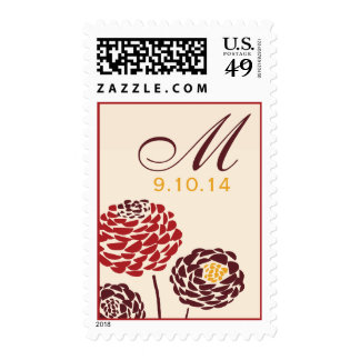 Simple Dahlia - Autumn Rustic Wedding Stamps