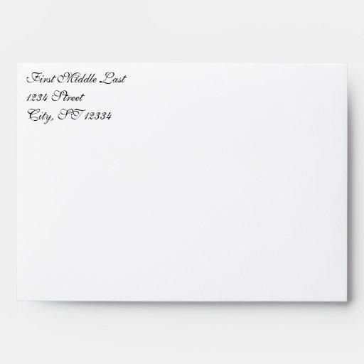 Simple Damask Robin's Egg Blue Wedding Envelope