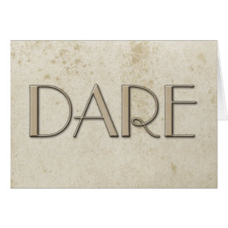 Simple Dare Vintage Stained Paper Card