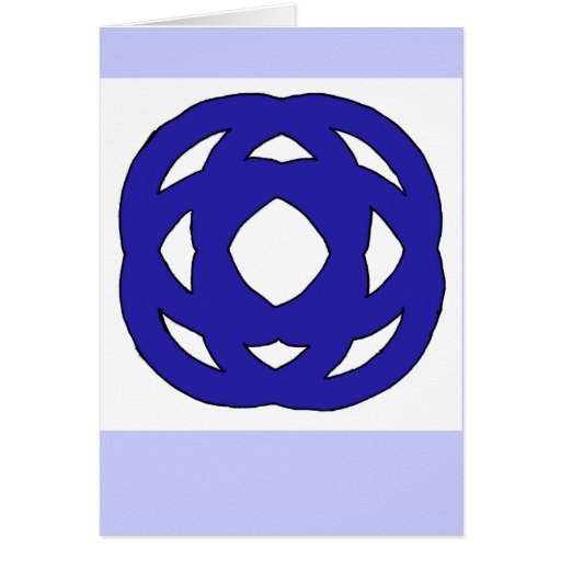Simple Dark Blue Knot Greeting Card