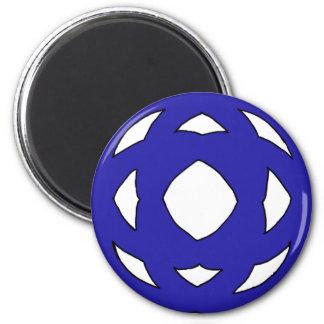 Simple Dark Blue Knot Magnet