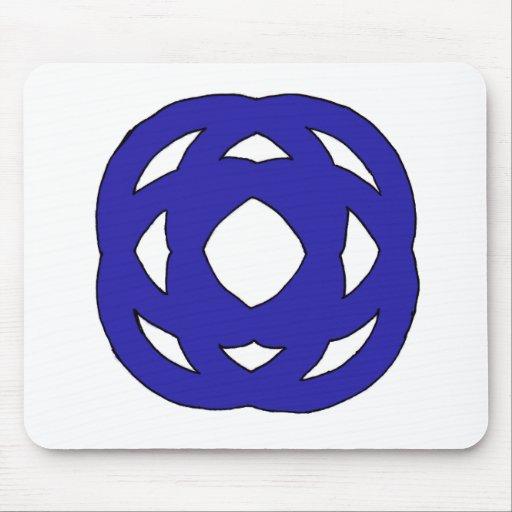 Simple Dark Blue Knot Mousepads