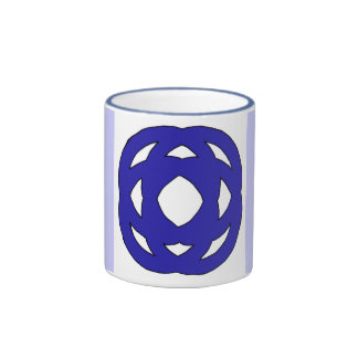 Simple Dark Blue Knot Mugs
