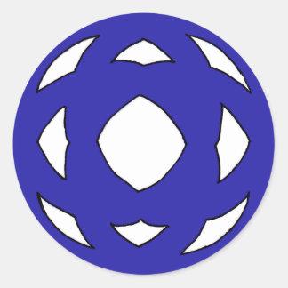 Simple Dark Blue Knot Classic Round Sticker