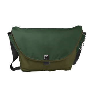 simple dark green color block courier bags
