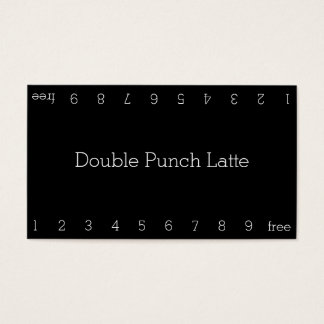 Simple Dark Loyalty Coffee Punch-Card Business Card