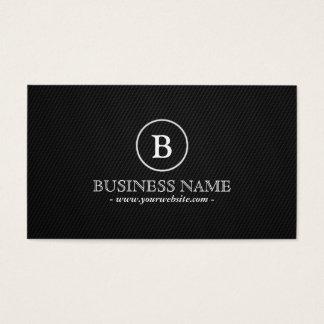 Simple Dark Monogram Economist Business Card