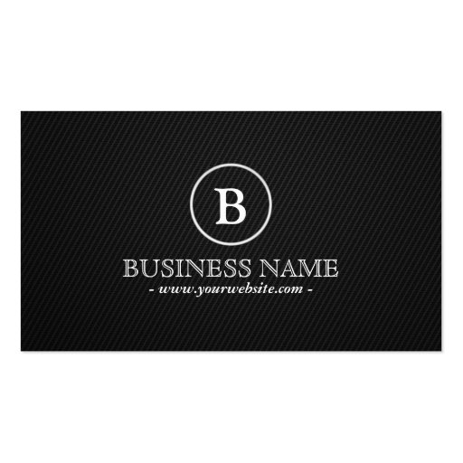 Simple Dark Monogram Producer Business Card