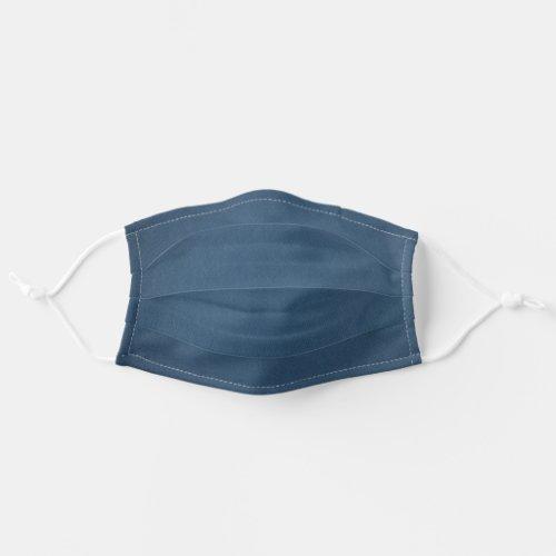 Simple Dark Navy Blue Denim Texture Cloth Face Mask