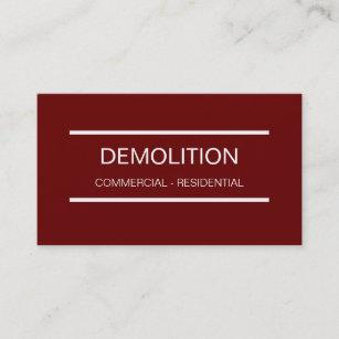 Demolition business cards templates zazzle simple demolition business cards colourmoves