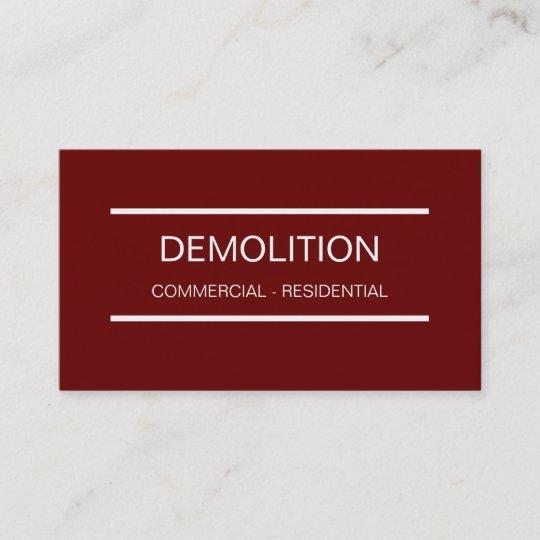 Simple demolition business cards zazzle simple demolition business cards colourmoves
