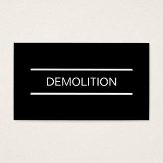 Simple Demolition Business Cards