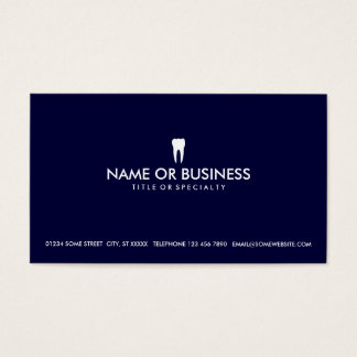 simple dentistry business card