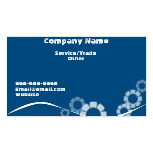 Simple design business blue card business card template