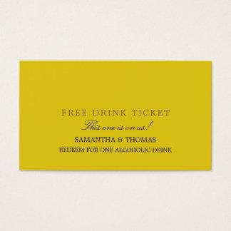 Simple Design Free Drink Ticket