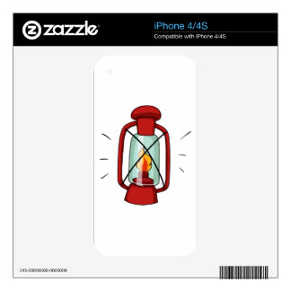 Simple design of camping lamp decals for iPhone 4S