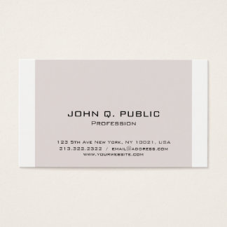 Simple Design Professional Modern Minimalistic Business Card