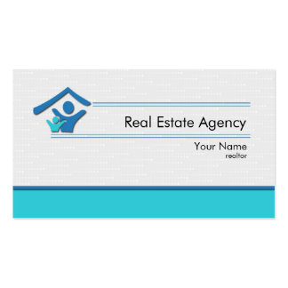 Simple Design Real Estate Agency Business Card