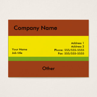 Simple Design With Yellow Business Cards