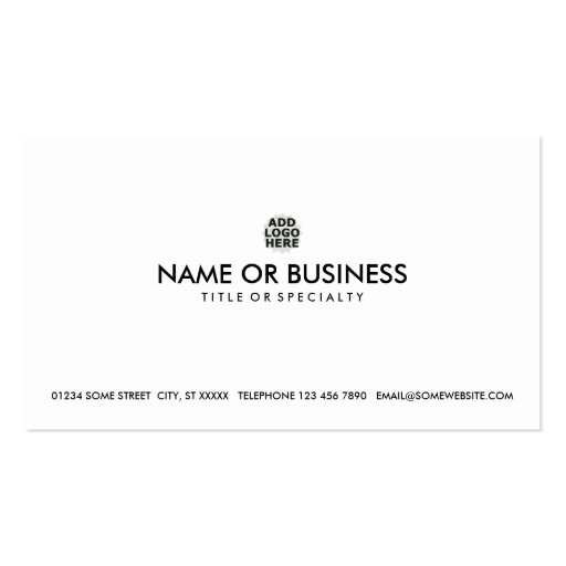 simple design your own business card