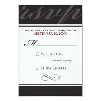 Simple Designer RSVP Card (ebony)