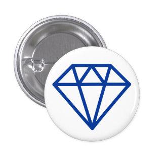 Simple Diamond - Navy on White Pinback Button