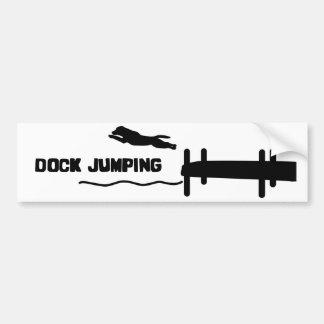 Simple Dock Jumping Bumper Sticker