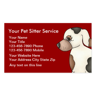Simple Dog Business Cards