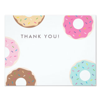 Simple Donut Thank You Card