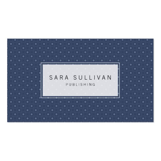 simple dot background publisher business card