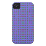 Simple dot pattern blue Case-Mate iPhone 4 cases